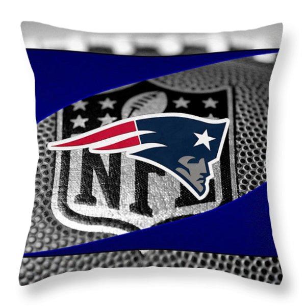 New England Patriots Throw Pillow by Joe Hamilton