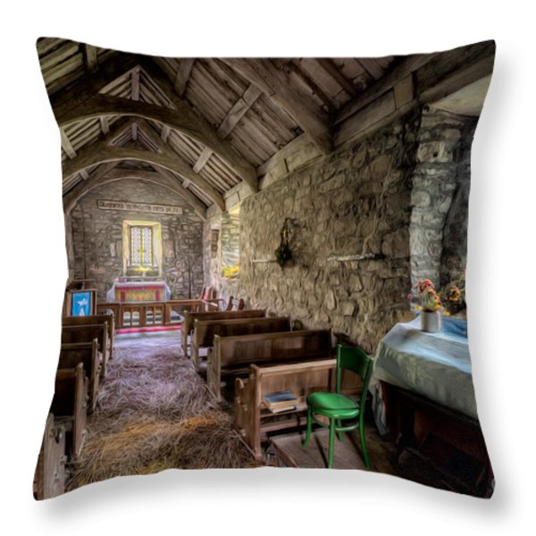12th Century Chapel Throw Pillow by Adrian Evans