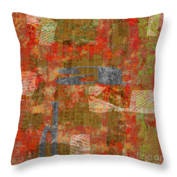 1352 Abstract Thought Throw Pillow by Chowdary V Arikatla