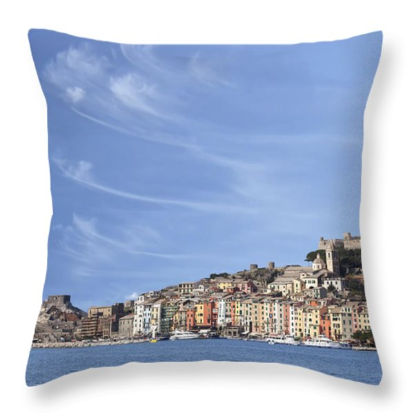 Porto Venere Throw Pillow by Joana Kruse