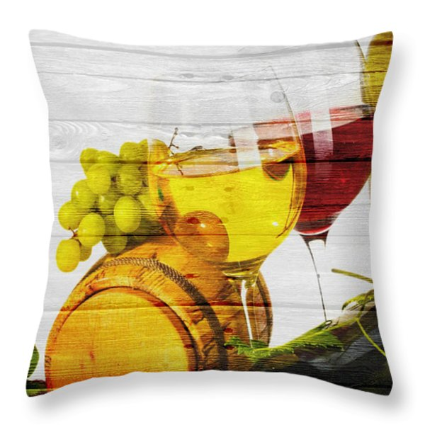 Wine Throw Pillow by Joe Hamilton