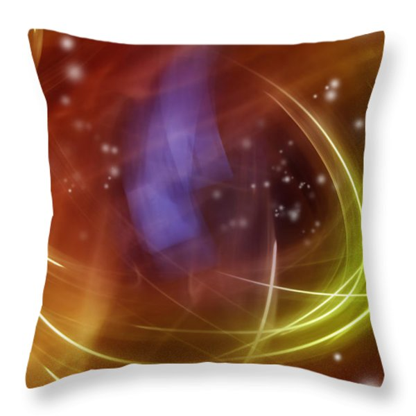 Abstract background Throw Pillow by Les Cunliffe