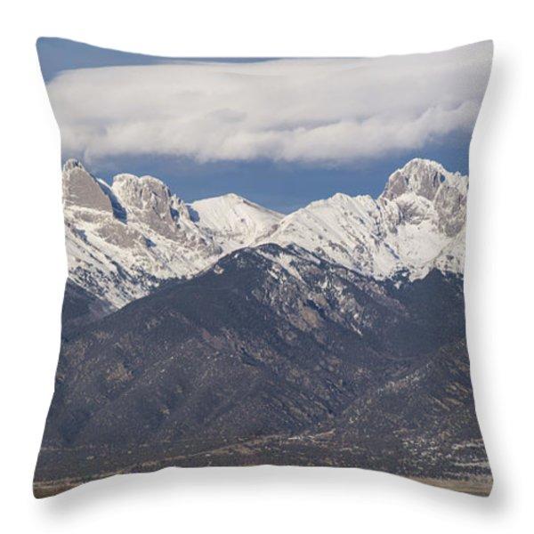 14er Panorama Throw Pillow by Aaron Spong
