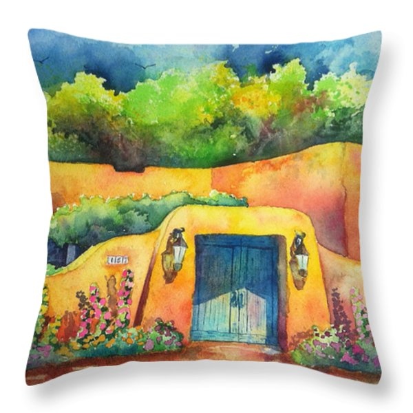 157 Old Lamy Trail Throw Pillow by Michael Bulloch