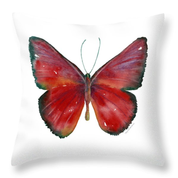 16 Mesene Rubella Butterfly Throw Pillow by Amy Kirkpatrick
