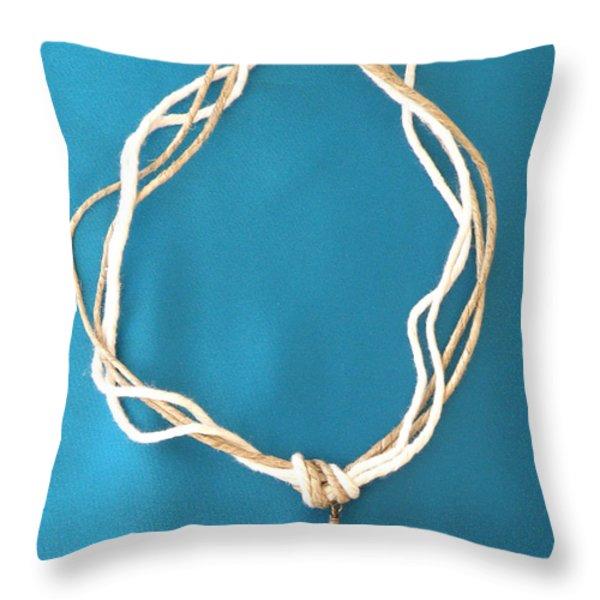 Aphrodite Urania Necklace Throw Pillow by Augusta Stylianou