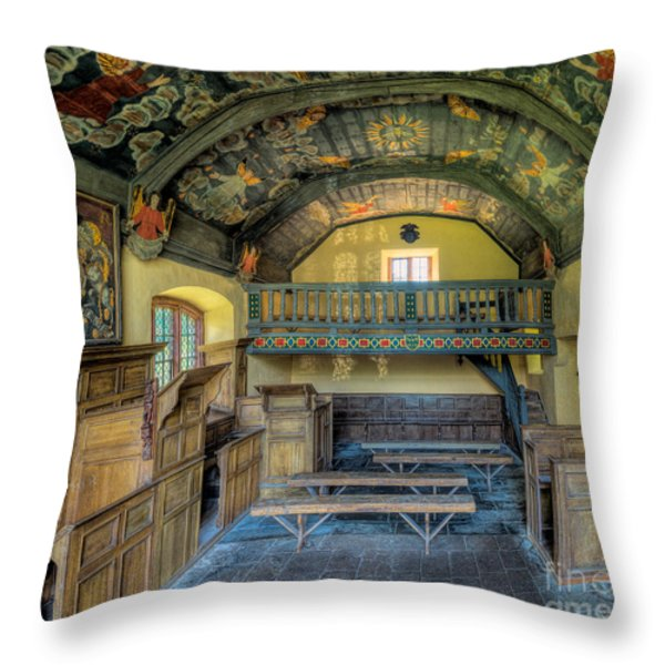17th Century Chapel Throw Pillow by Adrian Evans