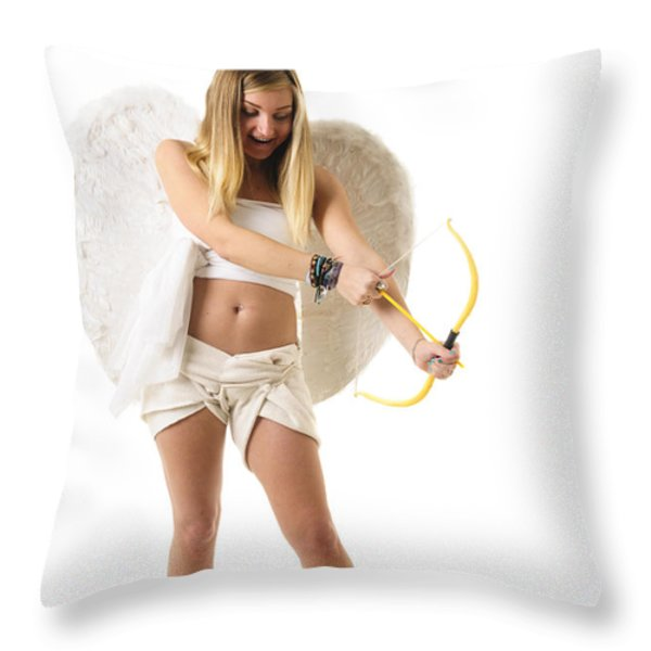 Cupid the god of desire Throw Pillow by Ilan Rosen
