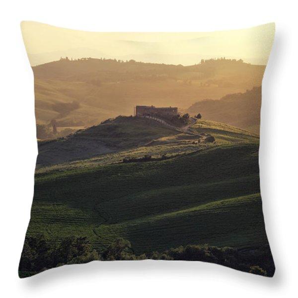 Tuscany - Val d'Orcia Throw Pillow by Joana Kruse