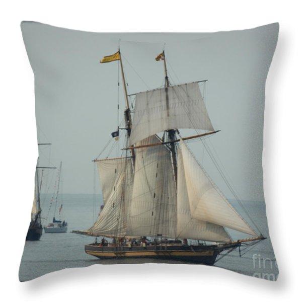 1812 Pride Of Baltimore II Throw Pillow by Marcia Lee Jones