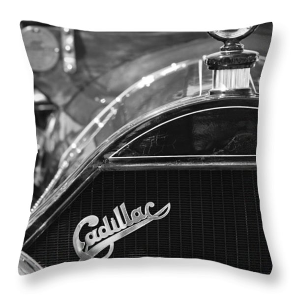 1911 Cadillac Roadster Grille and Hood Ornament Throw Pillow by Jill Reger