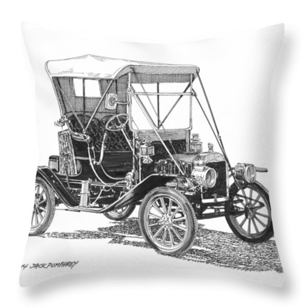 1911 Ford Model T Tin Lizzie Throw Pillow by Jack Pumphrey