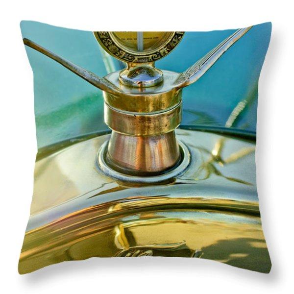 1923 Ford Model T Hood Ornament Throw Pillow by Jill Reger