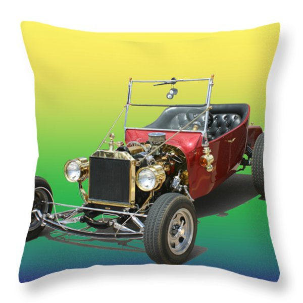 1923  Ford T Bucket Throw Pillow by Jack Pumphrey