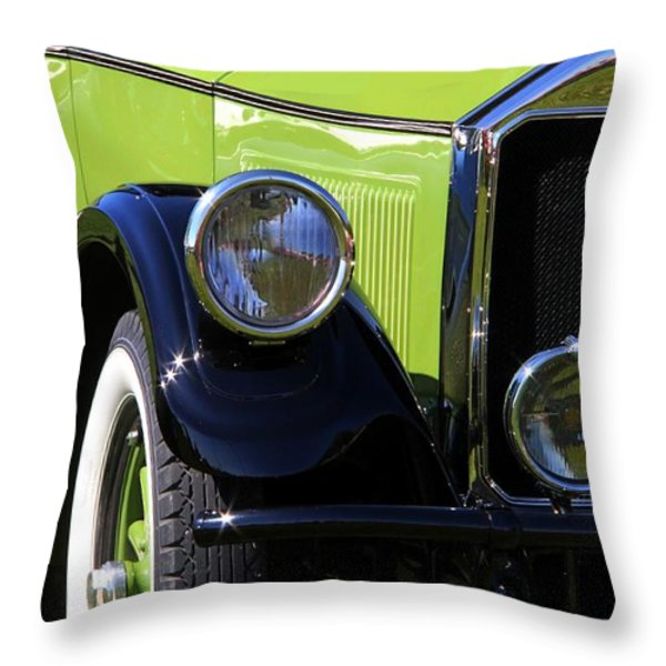 1926 Pierce Arrow Throw Pillow by Davandra Cribbie