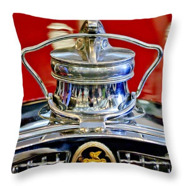 1929 Packard 8 Hood Ornament 2 Throw Pillow by Jill Reger