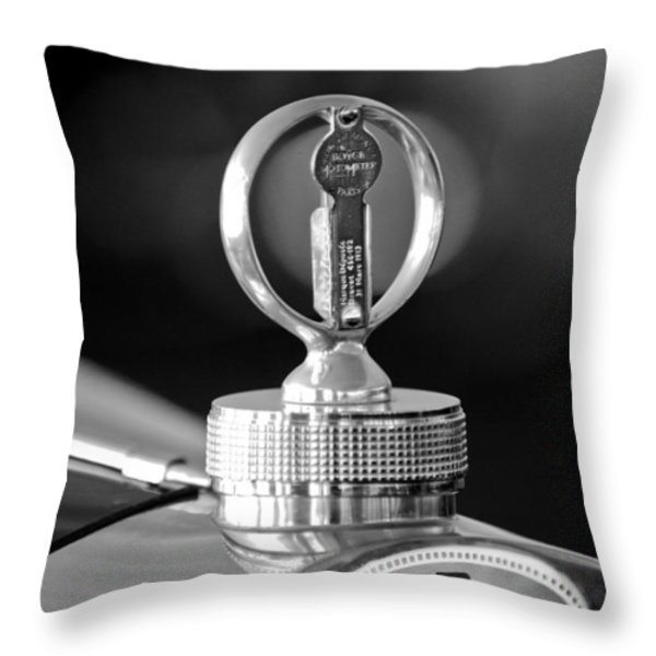 1930 Bugatti Hood Ornament Throw Pillow by Jill Reger