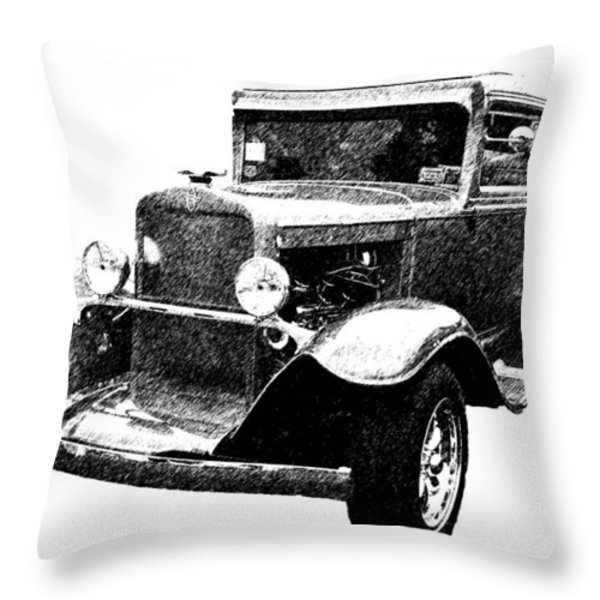 1930 Chevy Throw Pillow by Guy Whiteley