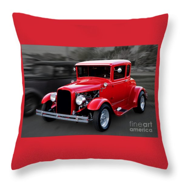 1930 Ford Model A Coupe Throw Pillow by Gene Healy