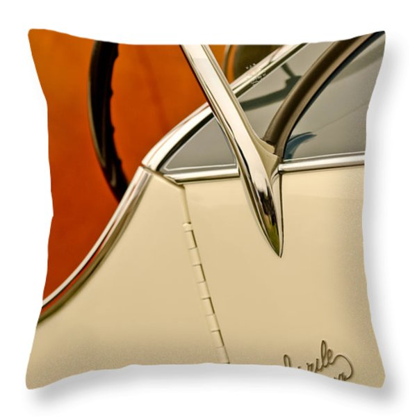 1931 Alfa Romeo 6c 1750 Gran Sport Aprile Spider Corsa Steering Wheel Throw Pillow by Jill Reger