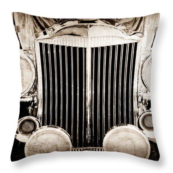 1933 Packard 12 Convertible Coupe Classic Car Throw Pillow by Jill Reger