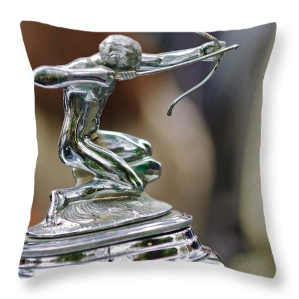 1933 Pierce-arrow 1236 2-door Convertible Coupe Hood Ornament Throw Pillow by Jill Reger