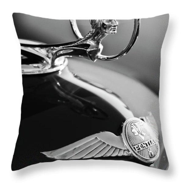 1933 Pontiac Hood Ornament 4 Throw Pillow by Jill Reger