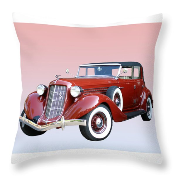 1935 Auburn 8 Phaeton 851 Throw Pillow by Jack Pumphrey