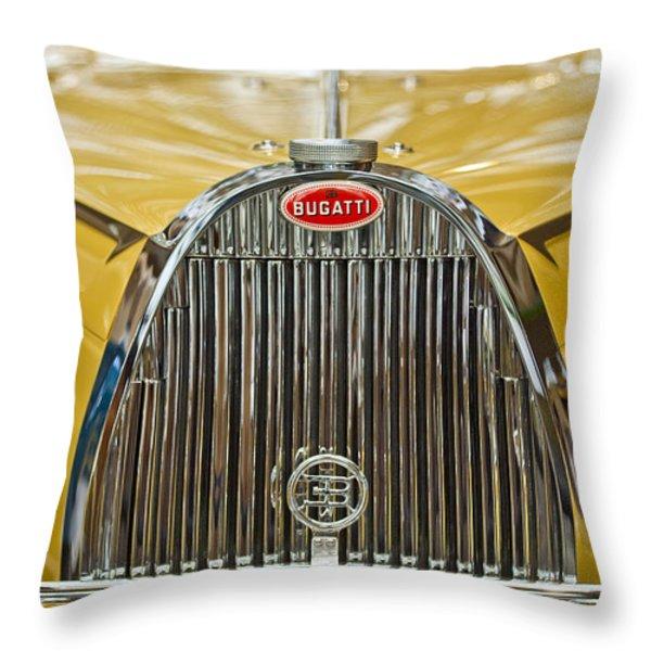 1935 Bugatti Type 57 Roadster Grille Throw Pillow by Jill Reger