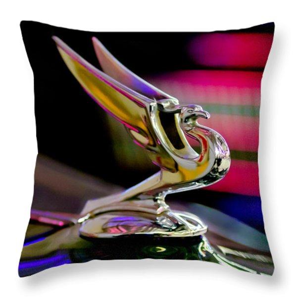 1935 Chevrolet Hood Ornament 2 Throw Pillow by Jill Reger