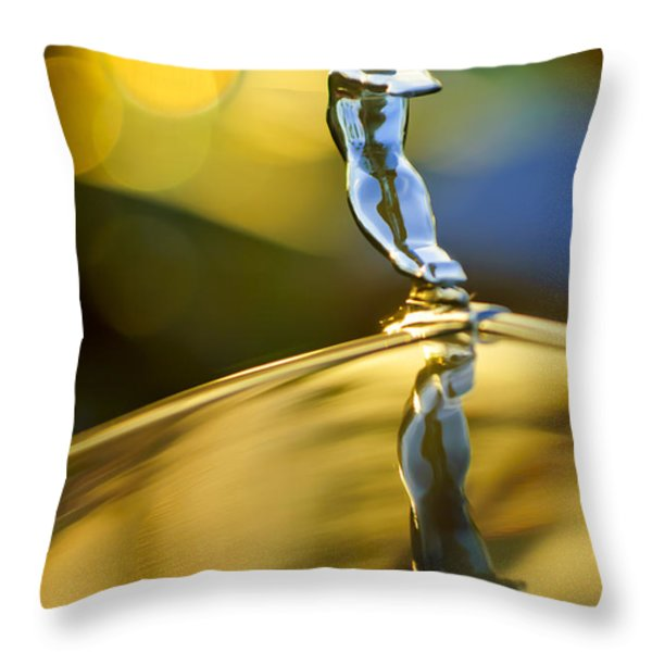 1936 Cadillac Hood Ornament Throw Pillow by Jill Reger