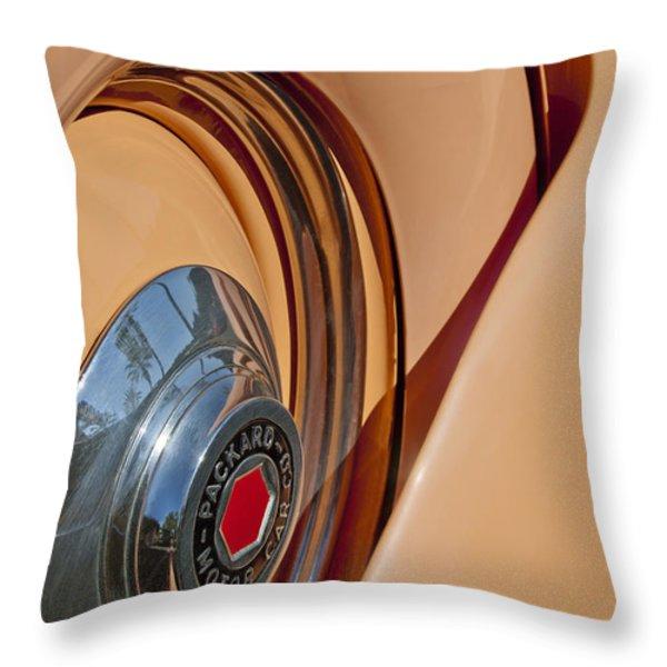 1936 Packard Spare Tire  Throw Pillow by Jill Reger