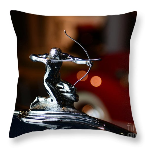1936 Pierce Arrow Hood Ornament Throw Pillow by Paul Ward