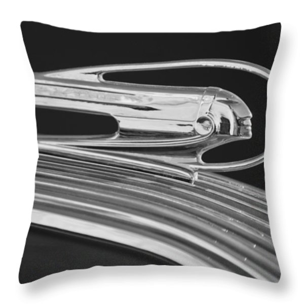 1936 Pontiac Hood Ornament 5 Throw Pillow by Jill Reger