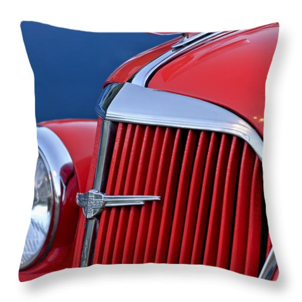 1937 Chevrolet Hood Ornament Throw Pillow by Jill Reger