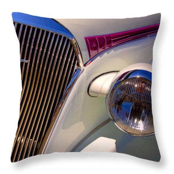 1937 Chevy 4 door sedan Throw Pillow by David Patterson