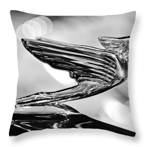 1938 CadillacV-16 Hood Ornament Throw Pillow by Jill Reger