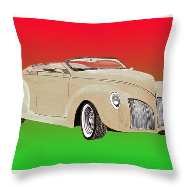 1939 Lincoln Zephyr Speedster Throw Pillow by Jack Pumphrey