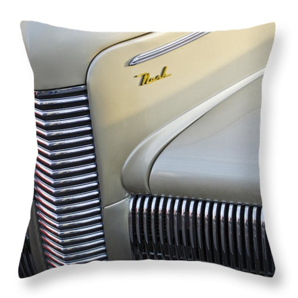 1940 Nash Grille Throw Pillow by Jill Reger
