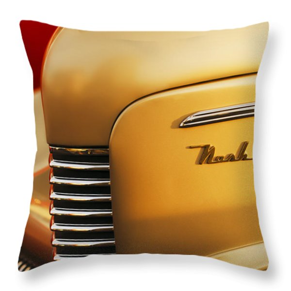 1940 Nash Sedan Grille Throw Pillow by Jill Reger