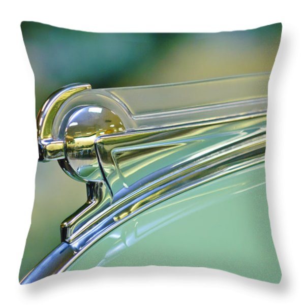 1940 Oldsmobile Hood Ornament Throw Pillow by Jill Reger