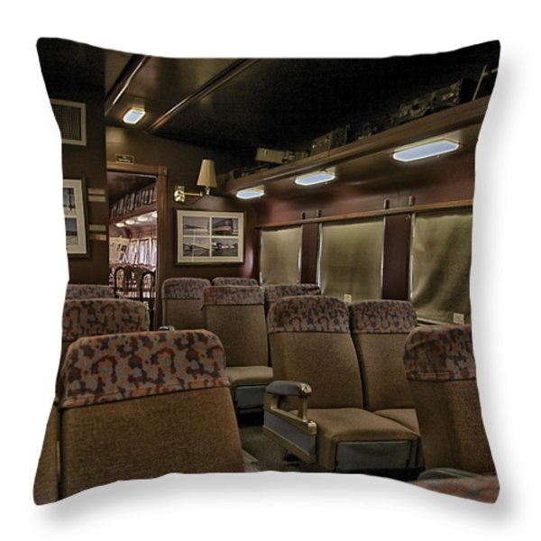 1947 Pullman Railroad Car Interior Seating Throw Pillow by Thomas Woolworth