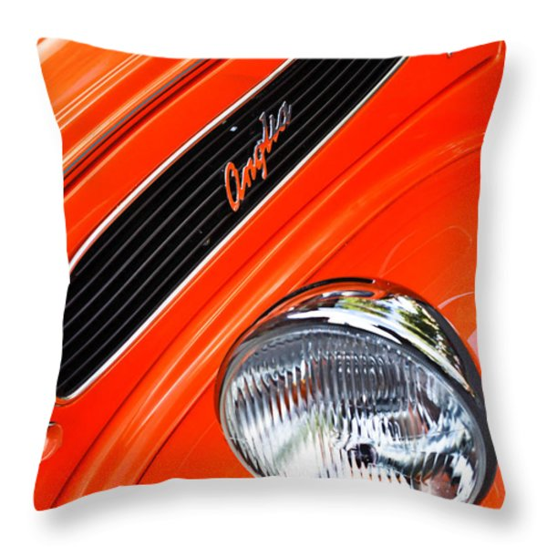 1948 Anglia 2-door Sedan Grille Emblem Throw Pillow by Jill Reger
