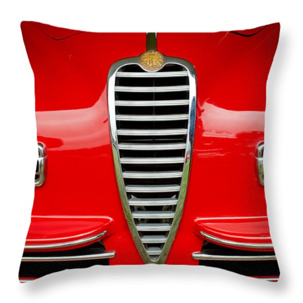 1949 Alfa Romeo 6c 2500 Ss Pininfarina Cabriolet Grille Throw Pillow by Jill Reger
