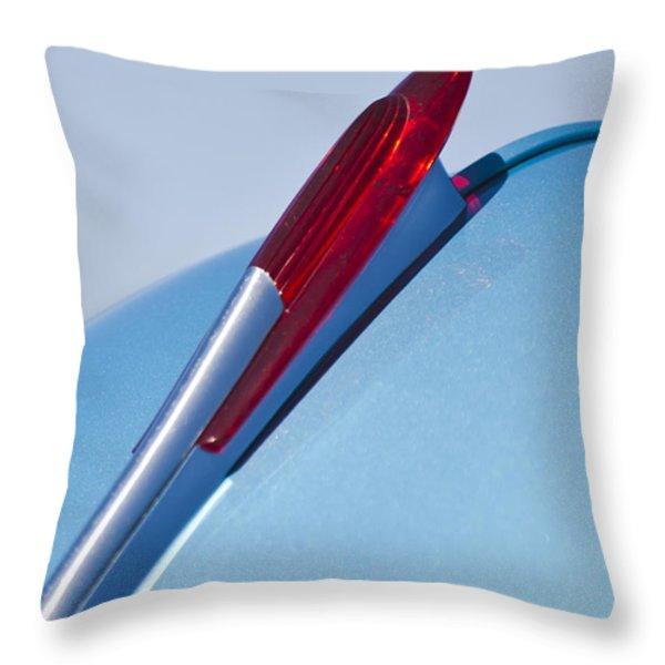 1950 Chevrolet Hood Ornament Throw Pillow by Jill Reger
