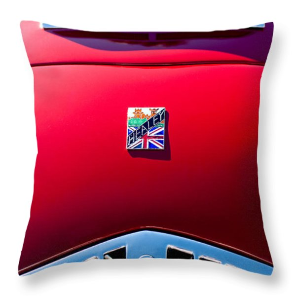 1950 Healey Silverston Sports Roadster Emblem Throw Pillow by Jill Reger