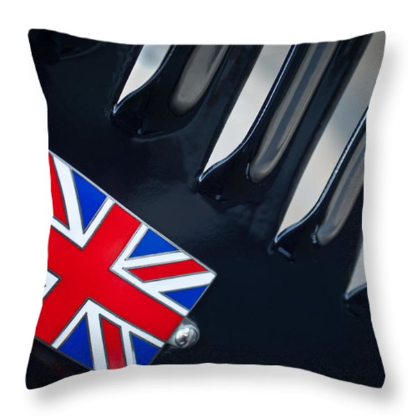 1951 Jaguar Proteus C-Type British Emblem Throw Pillow by Jill Reger