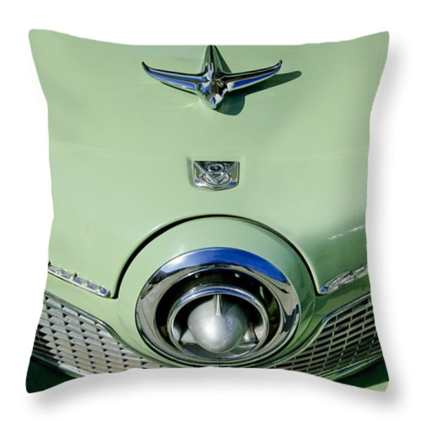 1951 Studebaker Commander Hood Ornament 2 Throw Pillow by Jill Reger