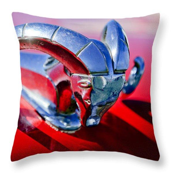 1952 Dodge Ram Hood Ornament 2 Throw Pillow by Jill Reger