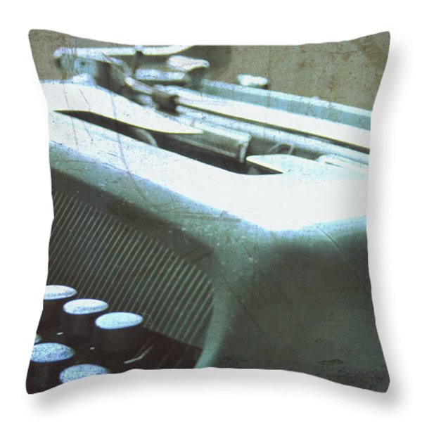1952 Olivetti Typewriter Throw Pillow by Nomad Art And  Design